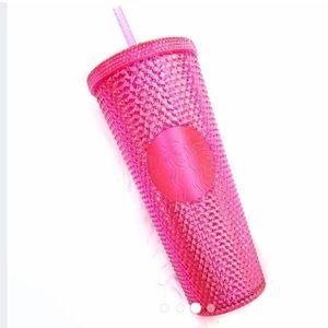 Brand New Starbucks Hot Pink Studded Venti Cup